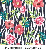 seamless tropical vintage... | Shutterstock .eps vector #120925483