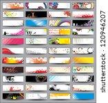 collection horizontal headers... | Shutterstock . vector #120946207