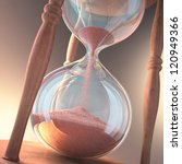 Hourglass counting the time. Concept of time is money. - stock photo