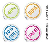 sale or discount tags for price ... | Shutterstock .eps vector #120951103