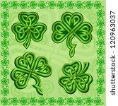 green ornamental irish...   Shutterstock .eps vector #120963037