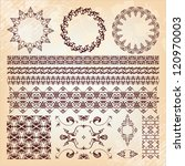 set of beautiful vintage... | Shutterstock .eps vector #120970003