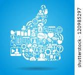 vector illustration of social... | Shutterstock .eps vector #120985297