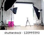interior of a modern photo... | Shutterstock . vector #120995593