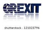 Grexit text with Greek and Eu flags illustration - stock photo