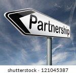 partnership partners in crime...   Shutterstock . vector #121045387