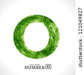 grunge vector symbol. green eco ... | Shutterstock .eps vector #121049827