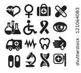 set of medical icons  basics ... | Shutterstock .eps vector #121064083