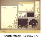 corporate identity kit or... | Shutterstock .eps vector #121067677