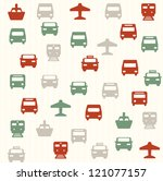 transport seamless pattern 2 | Shutterstock .eps vector #121077157