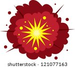 isolated explosion. red and...