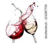 Red And White Wine Splash...