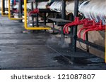 red steam pipes | Shutterstock . vector #121087807