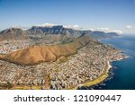 aerial shot of table mountains... | Shutterstock . vector #121090447