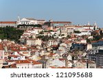 Beautiful view of Lisbon - stock photo