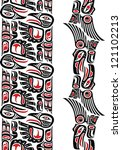 haida style seamless pattern...