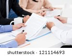 group of business workers... | Shutterstock . vector #121114693