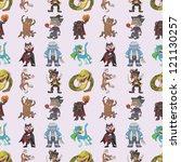 seamless story villain pattern... | Shutterstock .eps vector #121130257