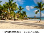 tropical paradise. dominican... | Shutterstock . vector #121148203
