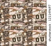 urban camouflage seamless... | Shutterstock .eps vector #121149697
