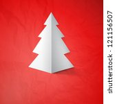 creative christmas tree card. ... | Shutterstock . vector #121156507