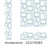 set of blank picture frames... | Shutterstock .eps vector #121170283