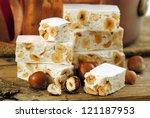Постер, плакат: Turron or nougat sweets Winter
