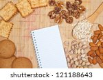 blank notebook for recipe  and... | Shutterstock . vector #121188643