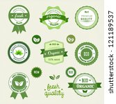 collection of eco and bio labels | Shutterstock .eps vector #121189537