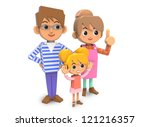 three families | Shutterstock . vector #121216357