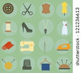 vector illustration of icons on ... | Shutterstock .eps vector #121236613