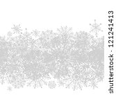 Seamless pattern with winter snowflakes for your design - stock vector