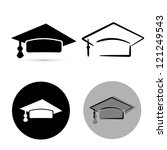 black graduate hat isolated... | Shutterstock .eps vector #121249543
