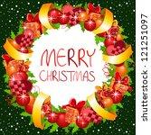 christmas wreath | Shutterstock .eps vector #121251097