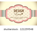greeting card template design - stock vector