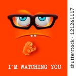 i'm watching you face. vector | Shutterstock .eps vector #121261117