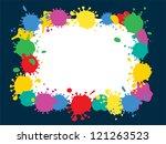 frame with color blobs | Shutterstock .eps vector #121263523