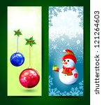 series of christmas cards.... | Shutterstock .eps vector #121264603