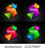 set of colorful geometrical web ... | Shutterstock .eps vector #121279657