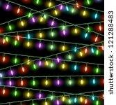 vector christmas lights on... | Shutterstock .eps vector #121288483