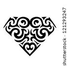 diamond symbol tattoo  vector  | Shutterstock .eps vector #121293247