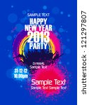 new year party backgrounds... | Shutterstock .eps vector #121297807