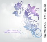 Abstract Floral Design. Vector...
