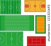 sport fields | Shutterstock .eps vector #121321693