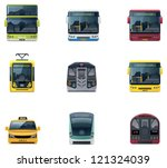 Vector public transport icons - stock vector