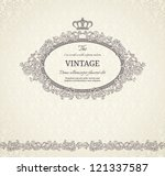 Vintage Background With Crown...