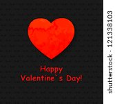valentine's day card with paper ... | Shutterstock .eps vector #121338103