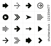 16 arrow pictogram black icon...