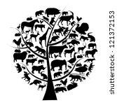 vector set of animals... | Shutterstock .eps vector #121372153