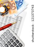 the calculator  pen  ink and... | Shutterstock . vector #121373743